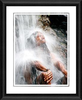 Waterfall in St Lucia Framed Photographic Print